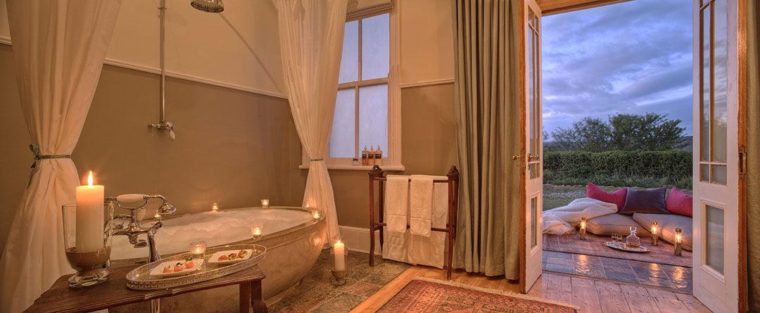 Kwandwe Uplands Homestead luxury bathroom South Africa