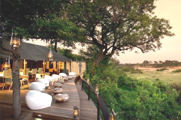 Ngala Tented Camp Kruger South Africa river view @andbeyondsafari