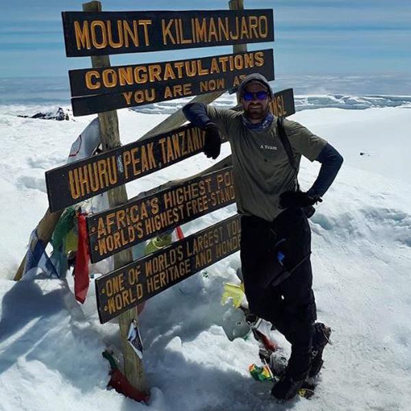 Ake Lindstrom summit 71 at the top of Kilimanjaro