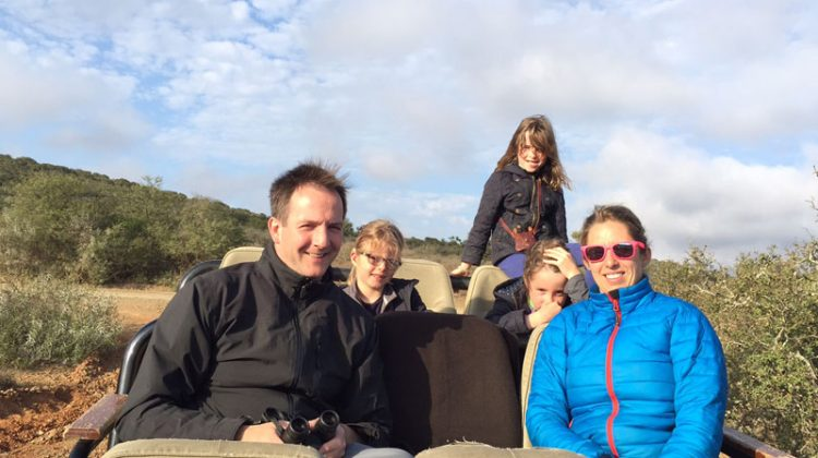Alice Gully & family on a south africa family safari game drive at Kwandwe