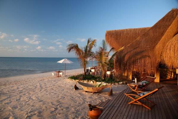 Beach bar at Azura Benguerra, Mozambique