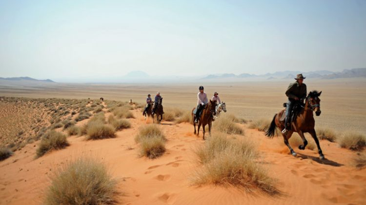 Namibia Horse Safaris riding in the desert