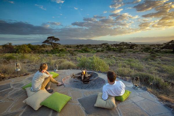 aardvark safaris facts romantic couple at Tortilis Camp, Kenya