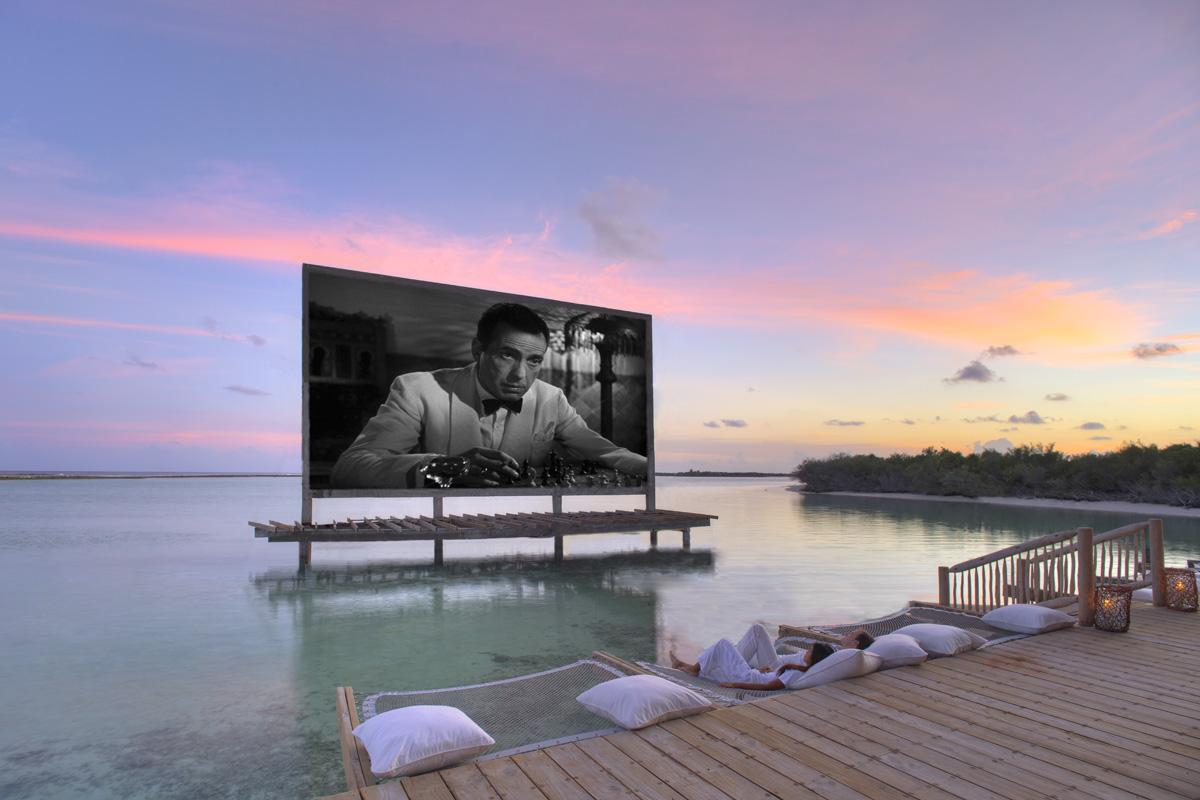 Soneva Jani cinema Maldives
