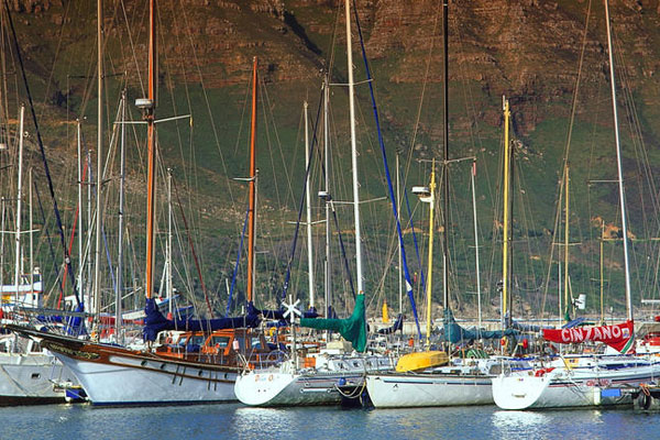 Hout bay yachts in harbour Cape © Explore + Escape