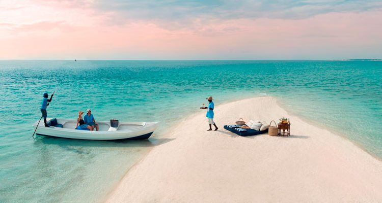 Romantic desert island picnic on Benguerra Island, Mozambique &Beyond
