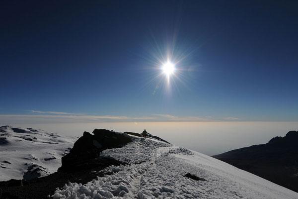 Kilimanjaro summit view - Ake Lindstrom climbing mount kilimanjaro
