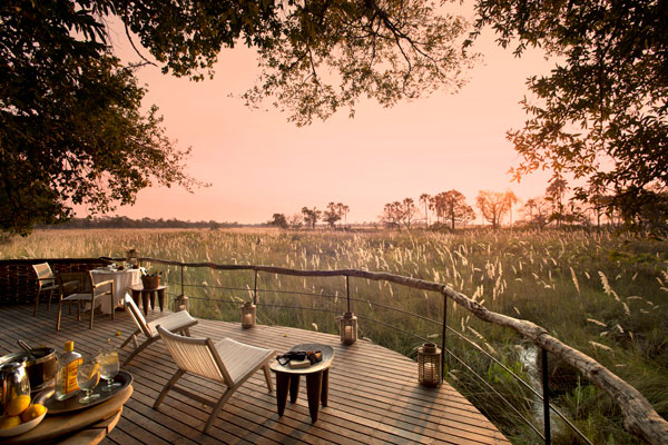 Gin and tonic at Sandibe Okavango Lodge, Botswana