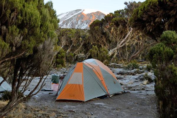 Summits Africa tent on Kilimanjaro