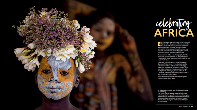 Africa Geographic Yearbook African flower girl