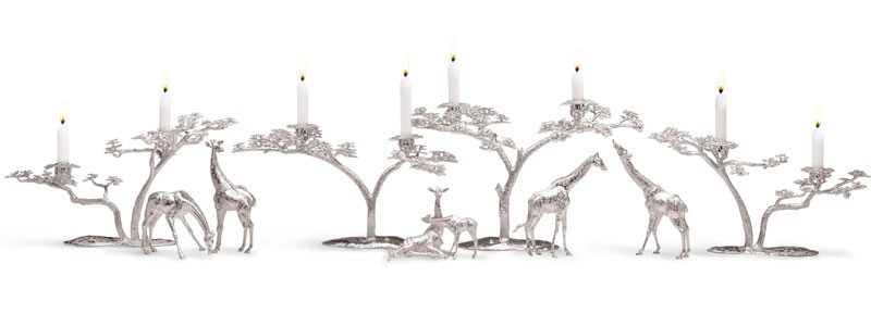 Fari tree collection Acacia tree silver candelabra Patrick Mavros