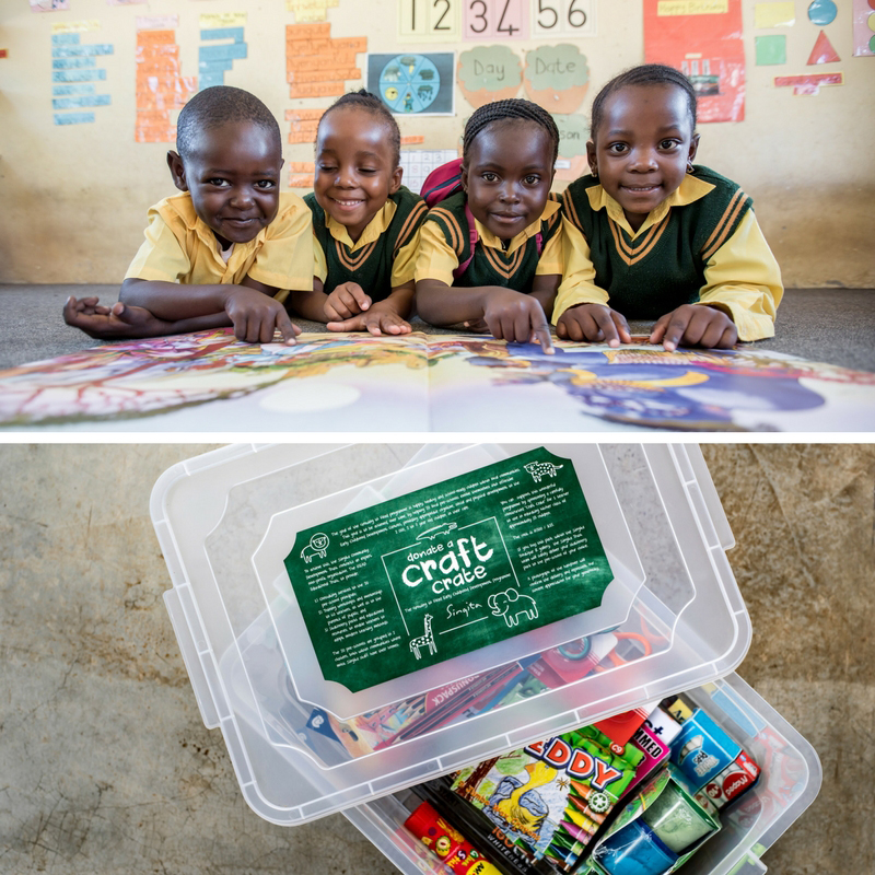 Singita Craft crate - charity gift to african teacher