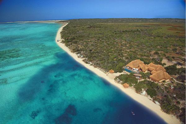 Mozambique Azura Benguerra beach aerial