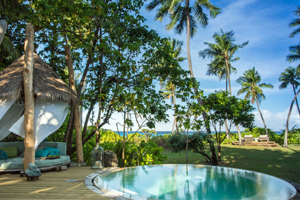 North Island Seychelles Presidential Villa plunge pool