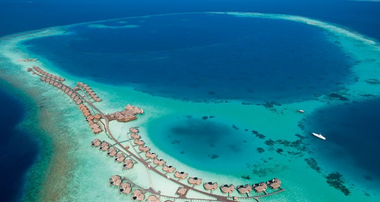Halveli Maldives aerial of resort atoll