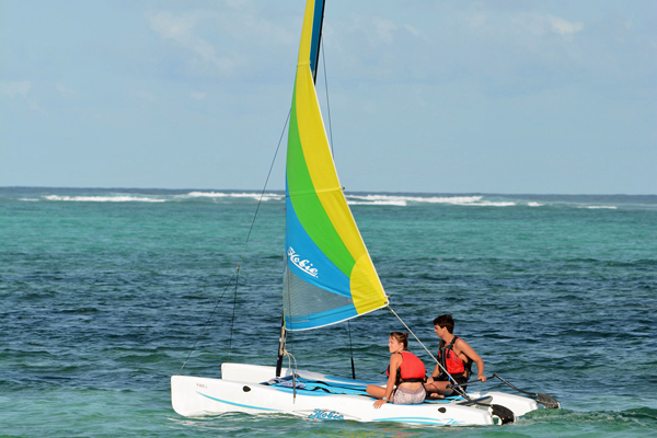 Catamaran sailing at Breezes Beach Club, Zanzibar