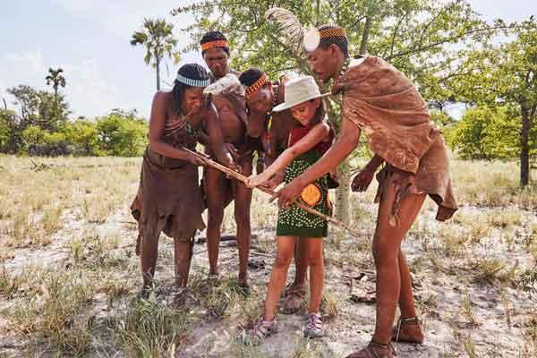 Bushman experience, Uncharted Africa, Botswana