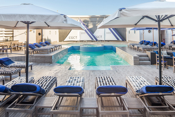 A peaceful spot for some R&R at the Cape Grace nautically-inspired pool