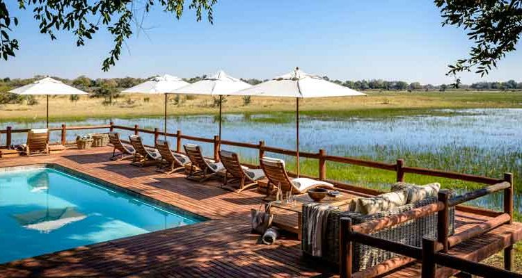 Family safari holiday - Chief's Camp Pool, Botswana
