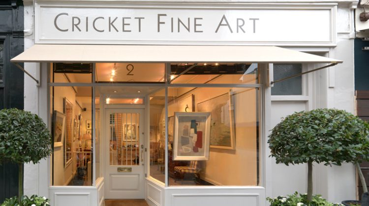 Julia Cassels fine art on African wildlife - Cricket Fine Art Gallery SW12 shop front