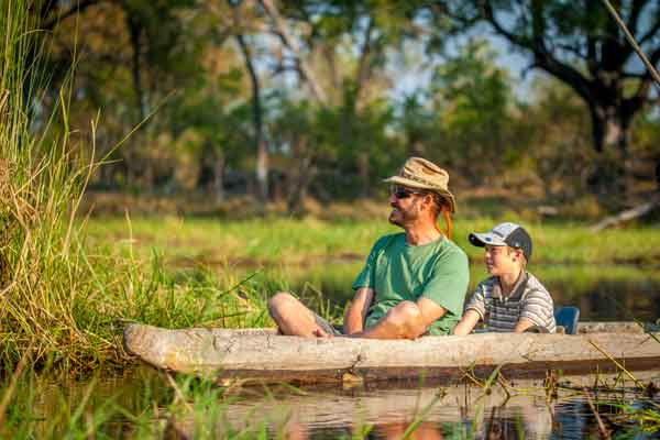 Family mokoro safaris at Delta Camp, Botswana