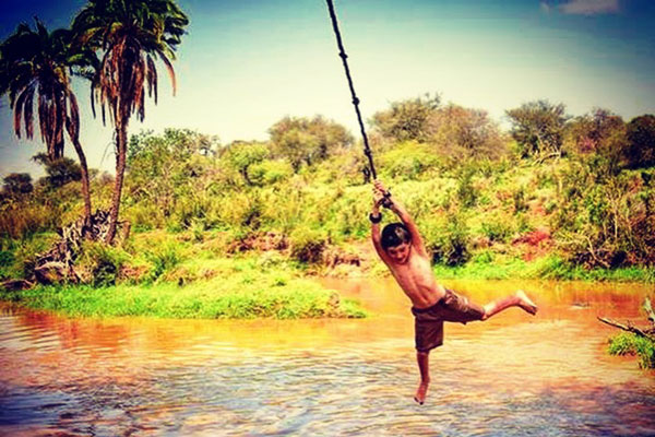 laikipia wilderness rope swing