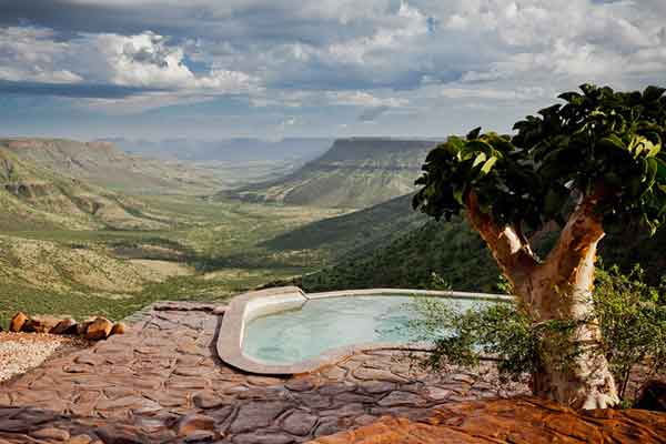 Infinity pool at Grootberg Lodge, Namibia