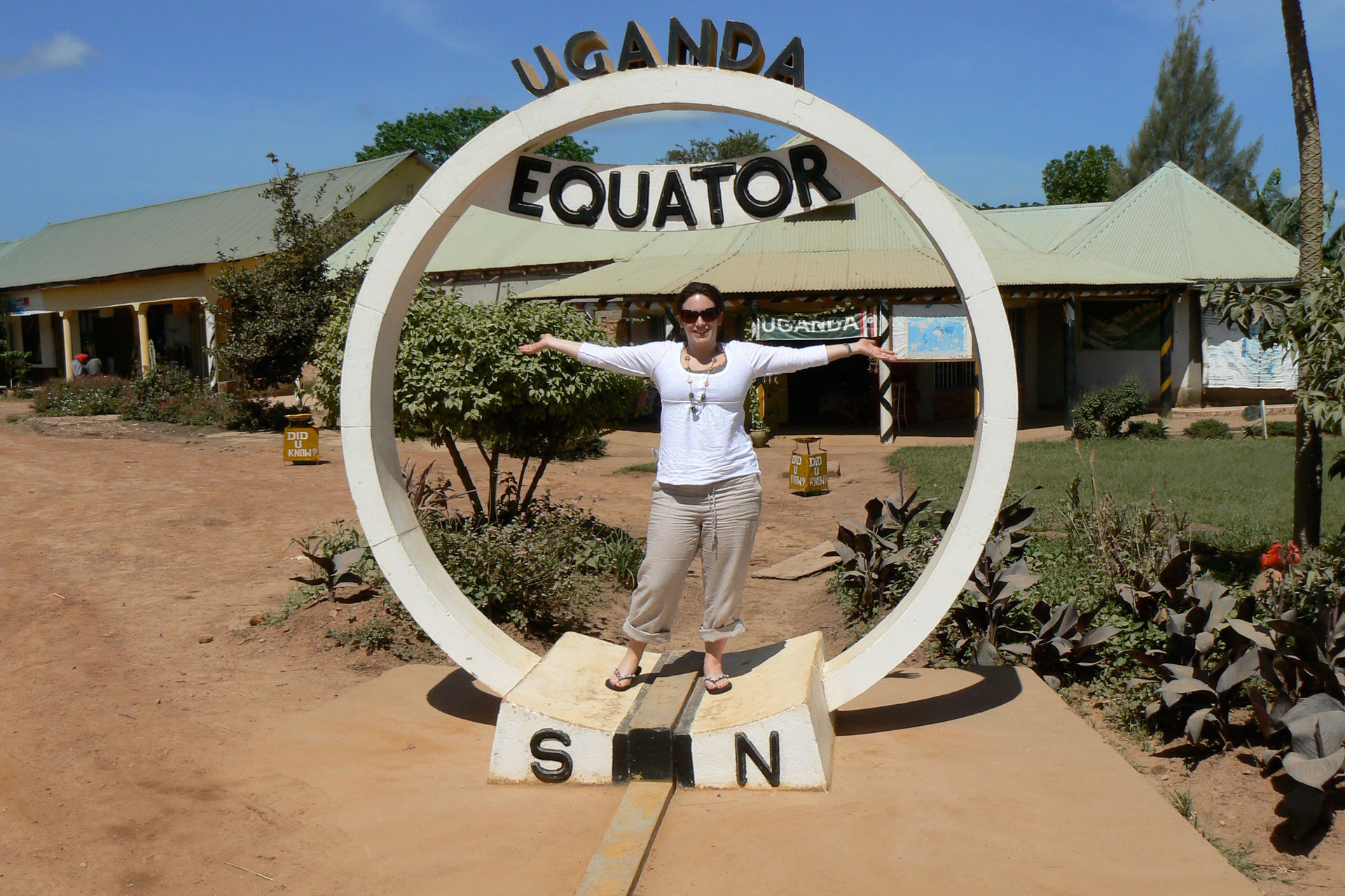 The equator passes through which African nations?
