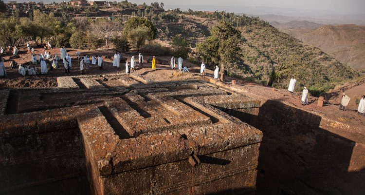 Rock hewn churches Ethiopia