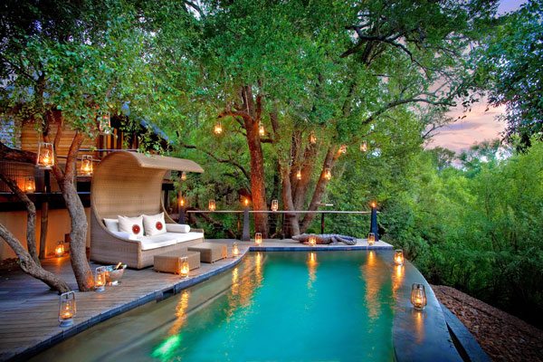 Madikwe Morukuru River House pool, South Africa