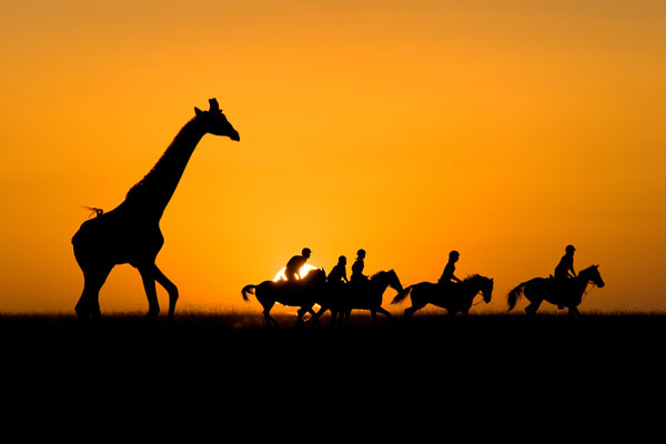 Riding safari, Ol Donyo Lodge, Chyulu Hills, Kenya