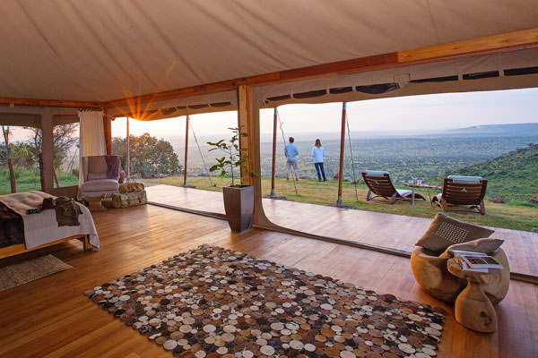 Tell me about luxury tents Aardvark