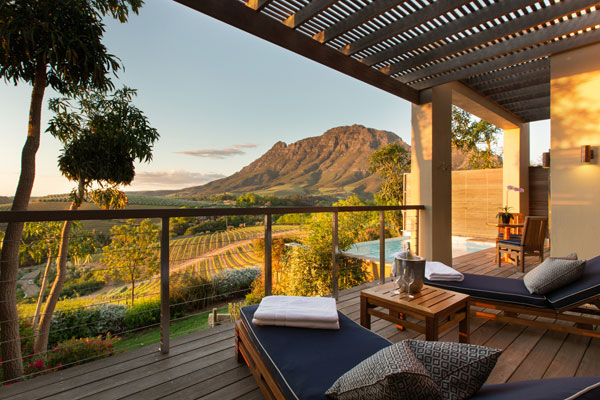 Wineland views, Delaire Graff, Stellenbosch