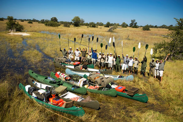 Selinda Canoe Trail solo safari in Botswana