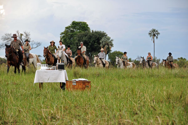Riding at African Horseback Safaris solo safari