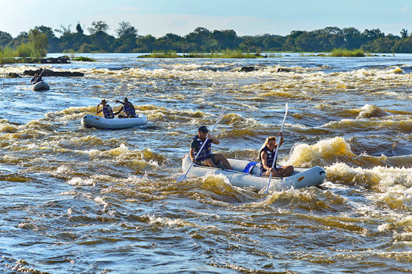 Canoeing on the Zambezi River, Victoria Falls River Lodge