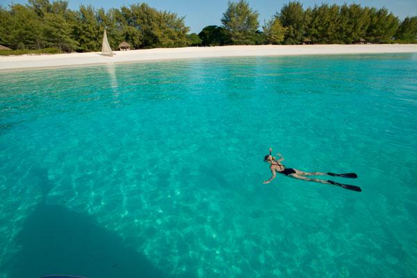 Snorkelling of Mnemba Island, Zanzibar