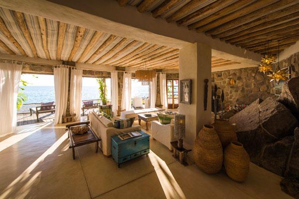 Sunny interiors, Ndomo Point, Kaya Mawa, Lake Malawi