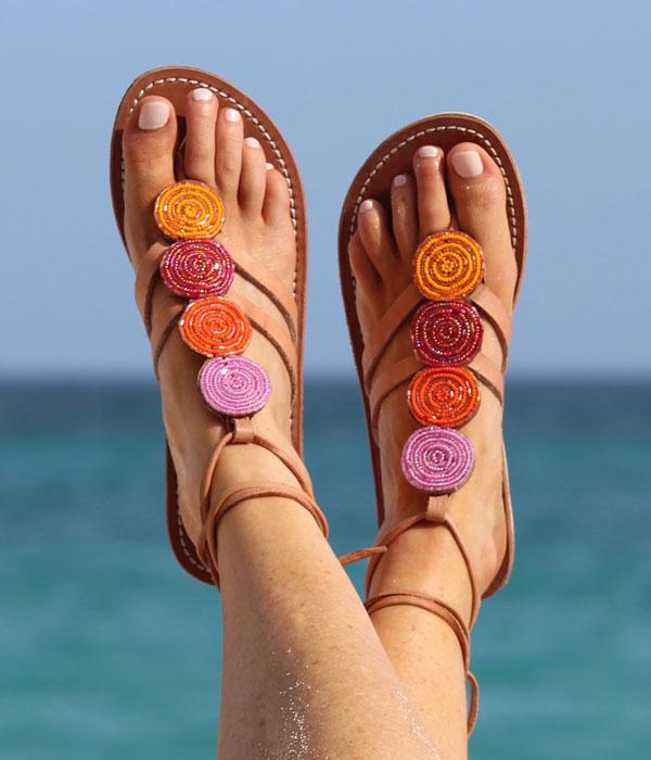 Aspiga beaded flat sandals