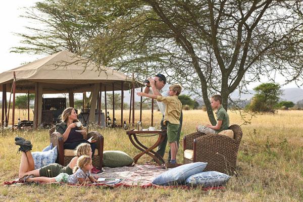 Tanzania family safari tent at Legendary Mobile Camp