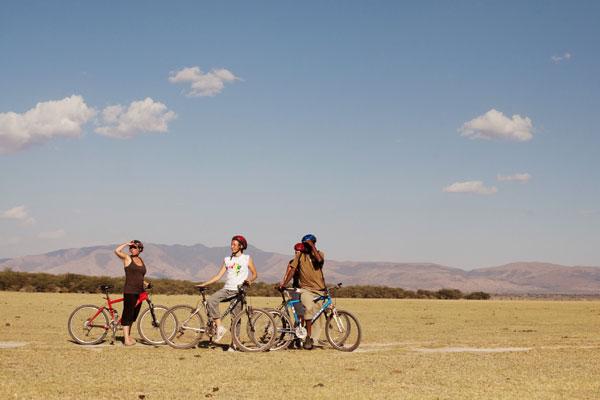 Tanzania family safari cycling at Wayo Africa