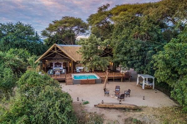 Chiawa Camp safari suite, Lower Zambezi, Zambia