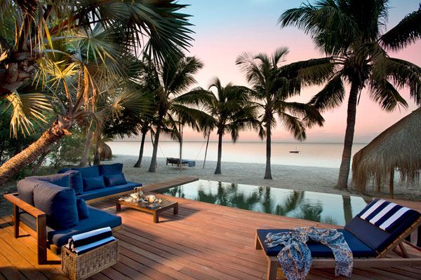 Sea views at &Beyond Benguerra Lodge, Mozambique