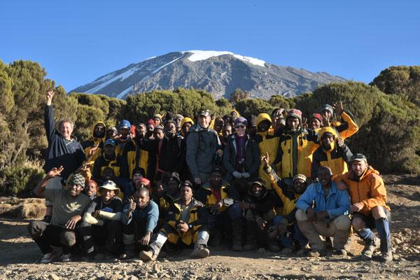 The climb team Mount Kilimanjaro