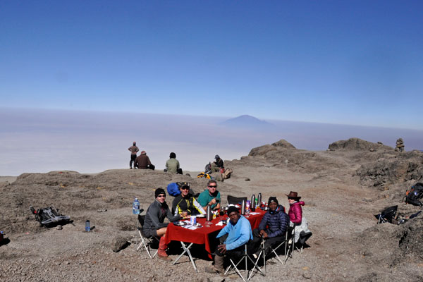 Breakfast on Kilimanjaro