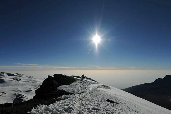 Approaching the summit of Mount Kilimanjaro © Ake Lindstrom
