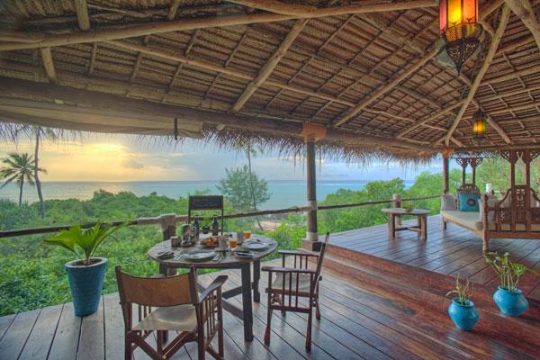 Outdoor dining, Matemwe Retreat, Zanzibar