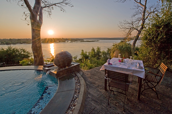 River Club sunset dining family safari camps in Zambia
