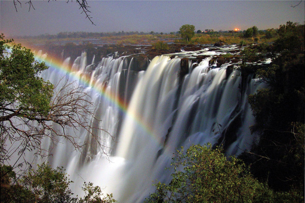 Moonbow at Victoria Falls - Sindabezi
