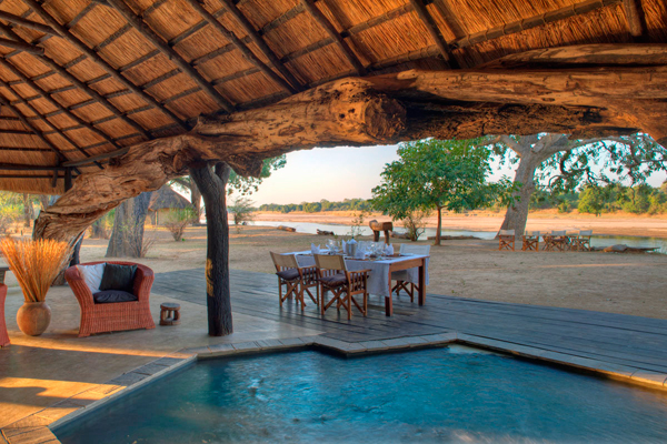 Time + Tide Mchenja alfresco dining family safari camps in Zambia